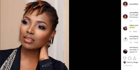 So Sad: Annie Idibia Loses Her Father After Battle With Cancer