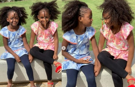 Checkout Adorable Photos Of Timi Dakoko Beautiful Daughters, Hallel And Zoe