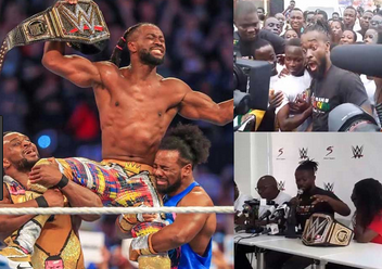 Checkout Massive Welcome WWE Star, Kofi Kingston Gets At Kotoka Airport In Ghana [Video]