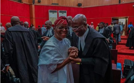 Checkout Photos Of Governor Gboyega Oyetola In Joyous Mood At The Court Of Appeal