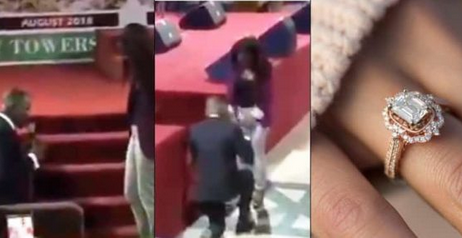 Checkout The Moment RCCG Member Proposes To His Girlfriend During Church Service [Video]