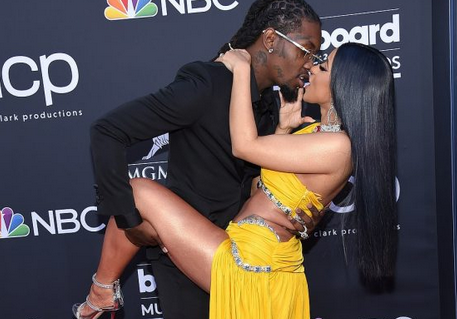 OMG: Checkout The Shocking Moment Cardi B Exposes Her Private Part At Billboard Red Carpet [PHOTOS]