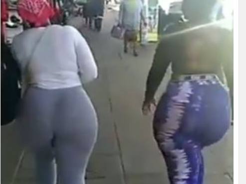 Checkout Video Of 2 Sisters Causing Commotion On The Road With Their Gigantic Backside