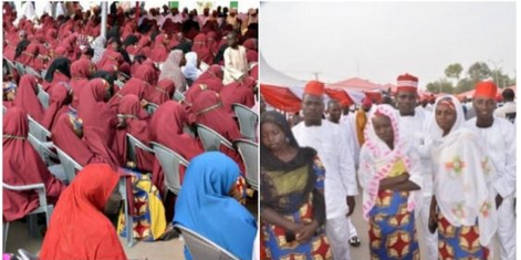 WOW: Kano Holds Mass Wedding For 1,500 Couples, Gifts Them With Cash And Furnitures
