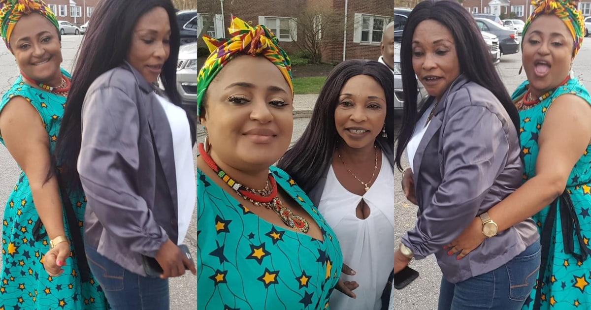Kyeiwaa And Matilda Asare Chilling Madly in USA