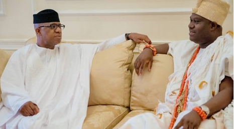 Ooni Of Ife Pays Courtesy Visit To Ogun State Governor Elect, Dapo Abiodun... Checkout Photos