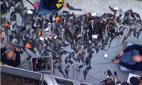 Shocking: Police Seize Over 1,000 Guns From A Los Angeles Mansion In One Of The Biggest Raids Ever [Photos]