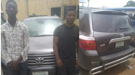 Robbers Arrested While Selling A Stolen Car In Lagos [Photo]