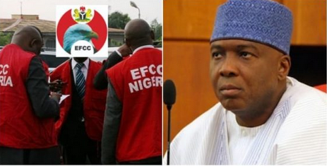 Saraki Goes On His Knees And Beg EFCC To Stop Witch Hunting Him