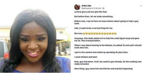OMG: See What A Lady Did To Man Who Gave Her N2K To Prepare Egusi Soup