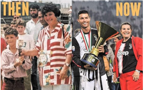 This Before And After Photo Of Ronaldo And His Mother Will Make You Cry For Joy [Checkout]