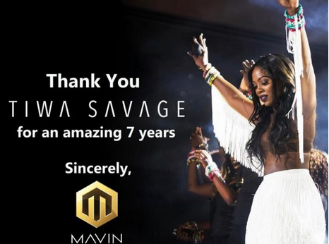 The End: Tiwa Savage Leaves Mavin Records After Seven Years