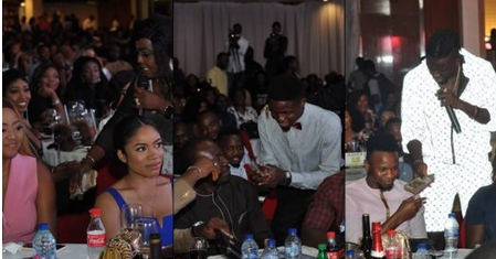 Checkout Adorable Photos Of Regina Daniels, Senator Dino Melaye, Footballer Onazi Gift Celebs Cash At AY Live